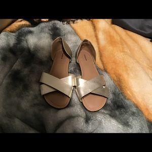 Gold Sandal Flats
